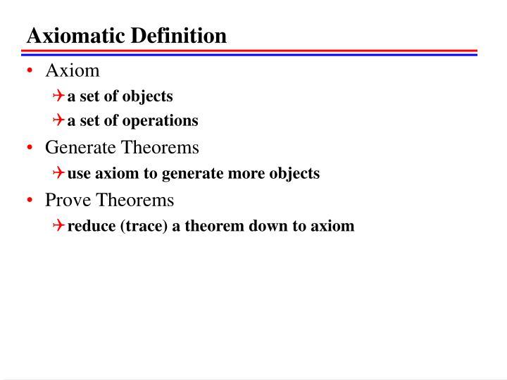 Axiomatic Definition