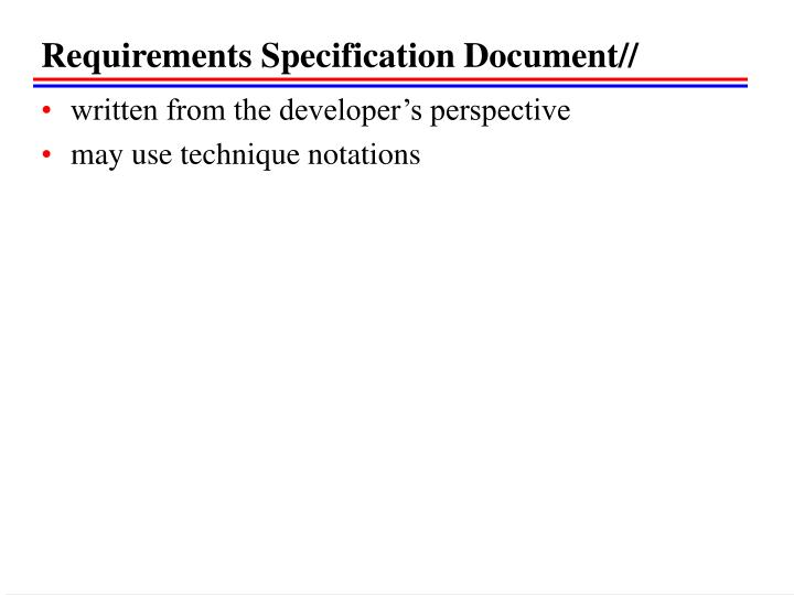 Requirements Specification Document//