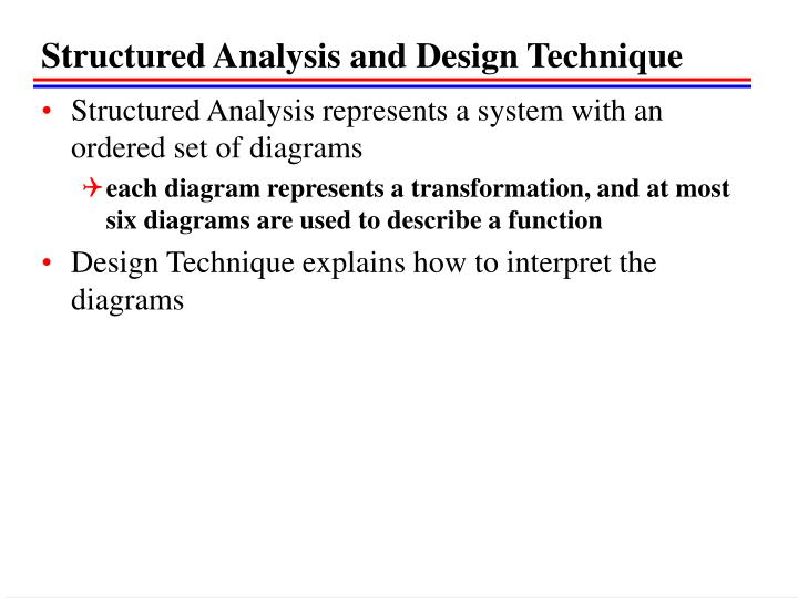 Structured Analysis and Design Technique