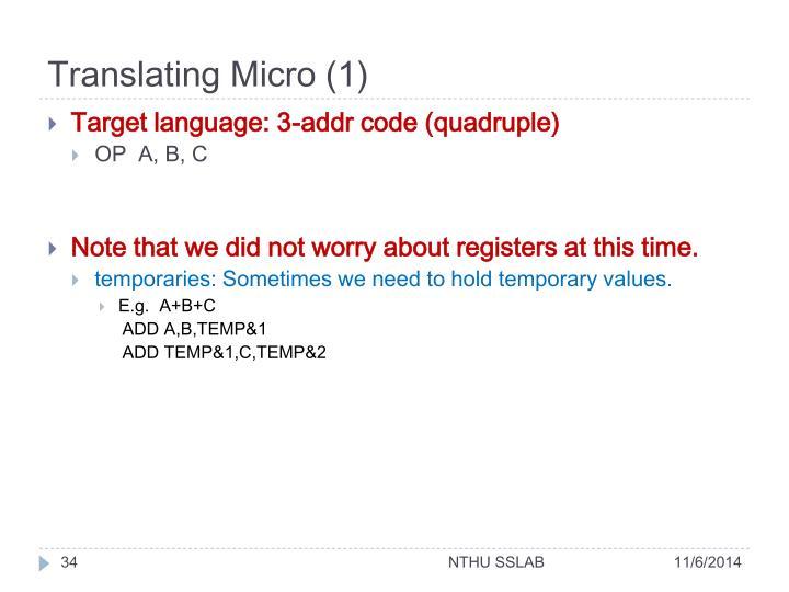 Translating Micro (1)