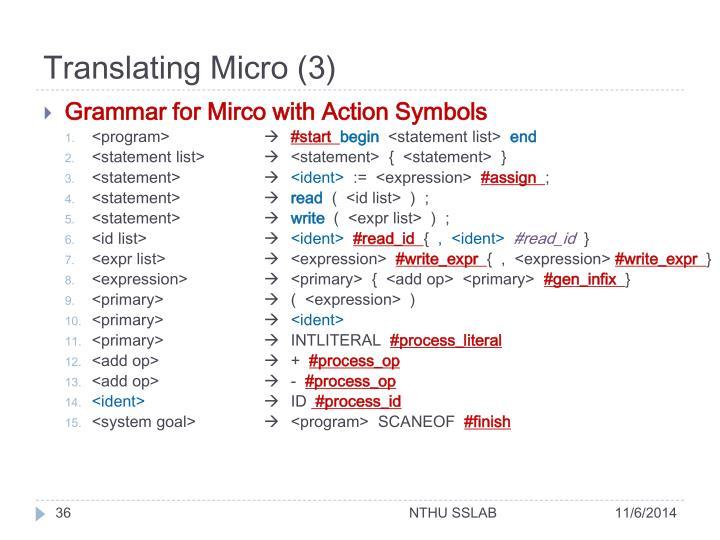 Translating Micro (