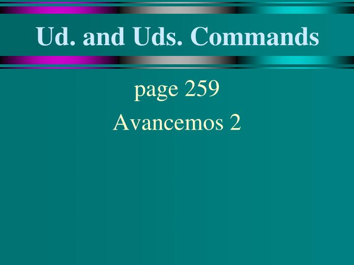Ud and uds commands