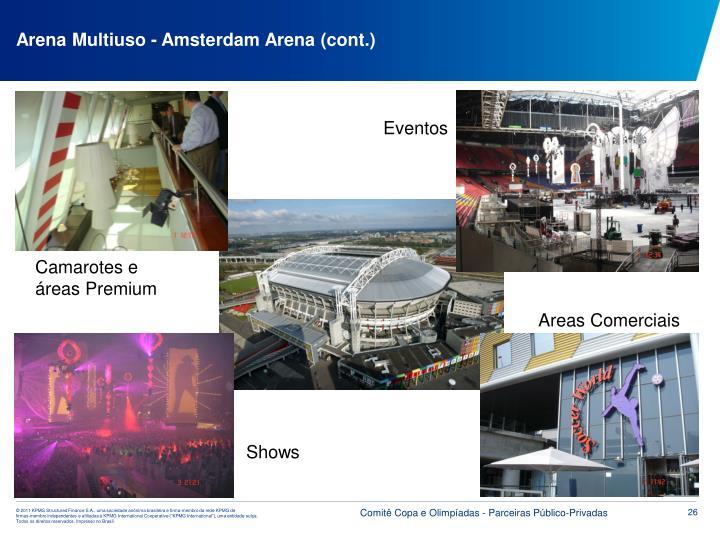 Arena Multiuso - Amsterdam Arena (cont.)