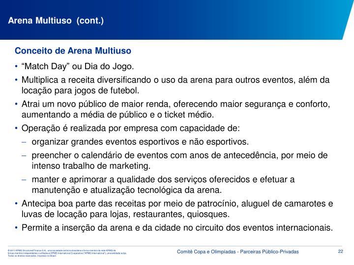 Arena Multiuso  (cont.)