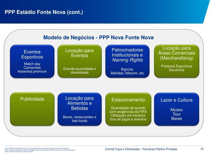PPP Estádio Fonte Nova (cont.)