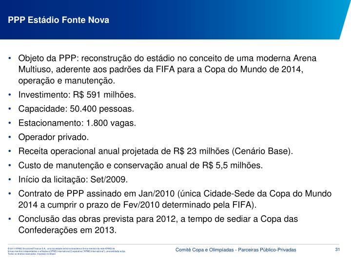 PPP Estádio Fonte Nova
