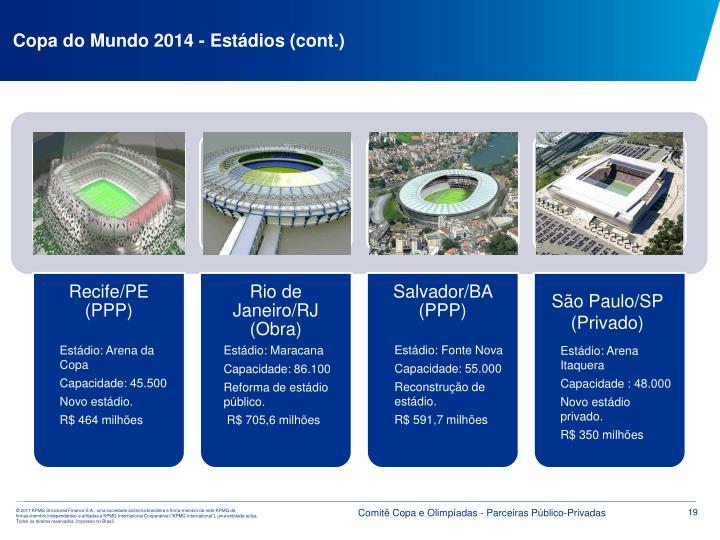 Copa do Mundo 2014 - Estádios (cont.)