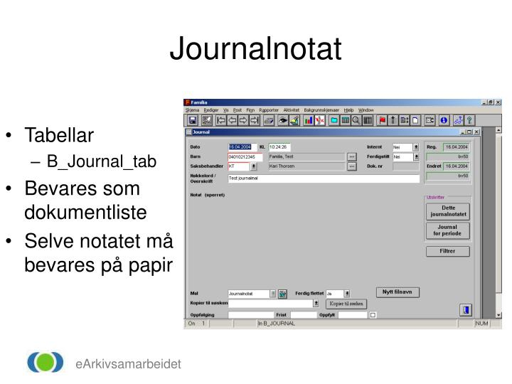 Journalnotat