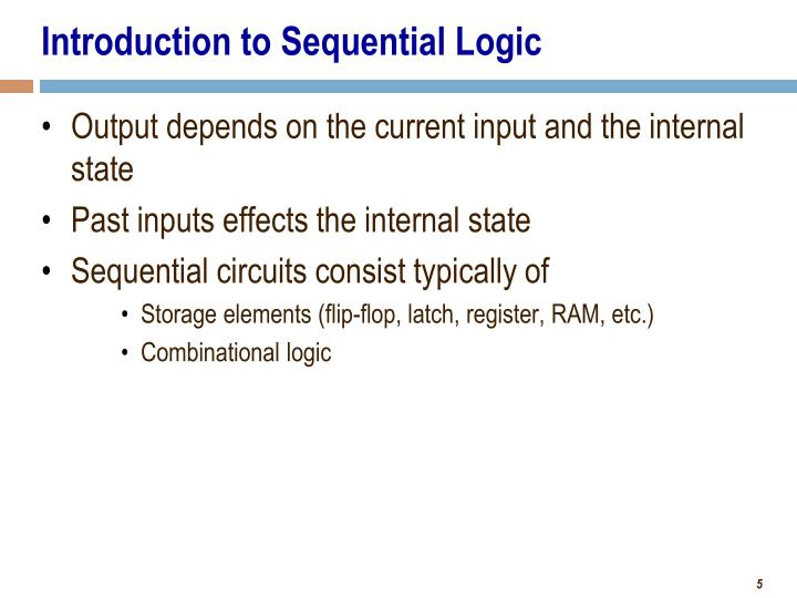 Introduction to Sequential Logic
