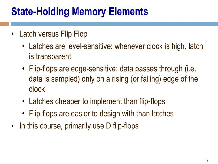 State-Holding Memory Elements