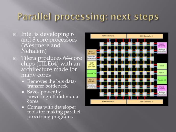 Parallel processing: next steps