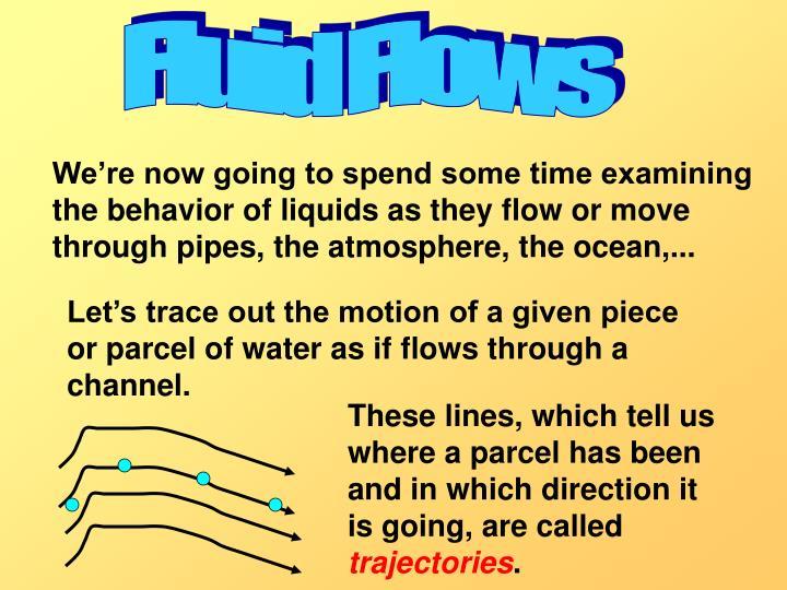 Fluid Flows