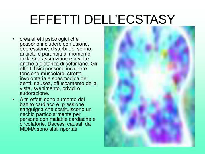 EFFETTI DELL'ECSTASY