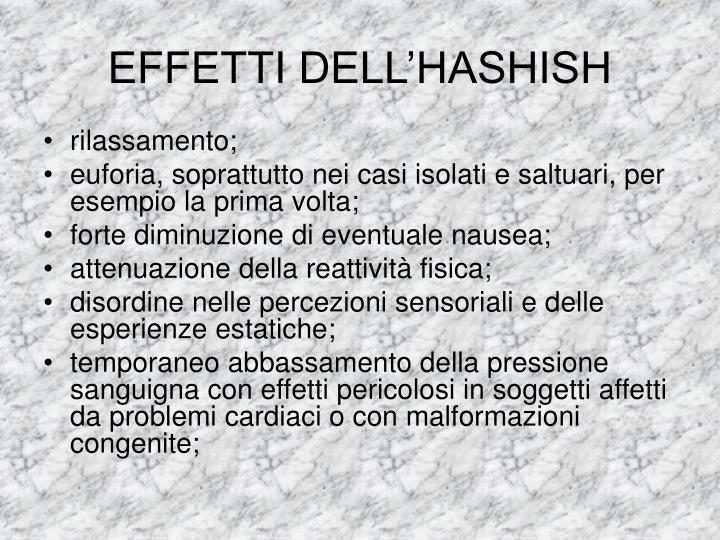 EFFETTI DELL'HASHISH