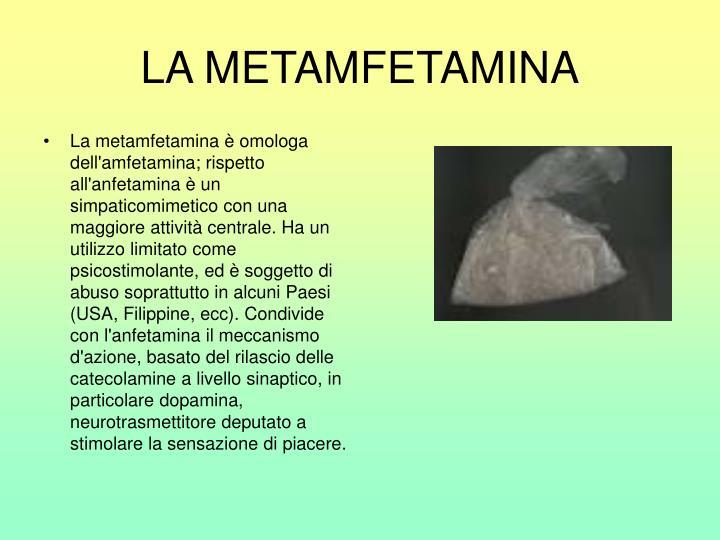 LA METAMFETAMINA