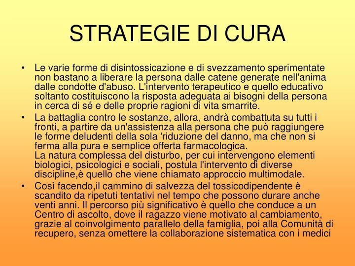 STRATEGIE DI CURA