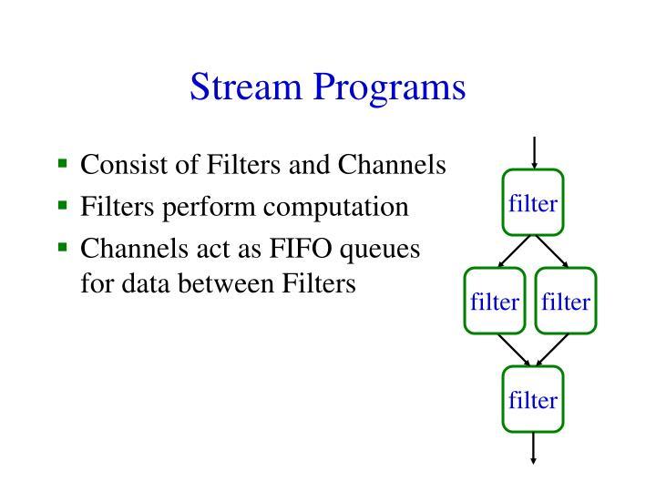 Stream Programs