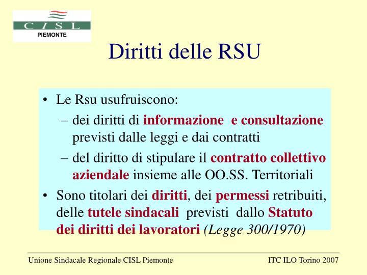 Diritti delle RSU