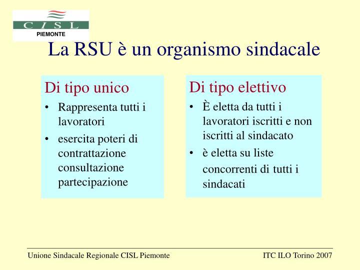 La RSU è un organismo sindacale