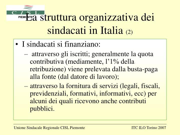 La struttura organizzativa dei sindacati in Italia