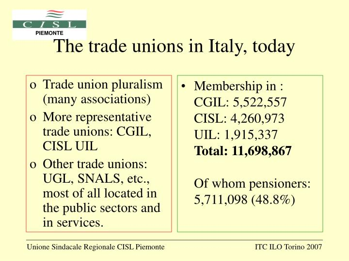 Trade union pluralism (many associations)