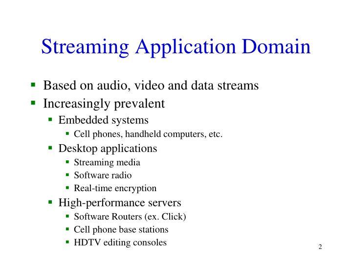Streaming Application Domain