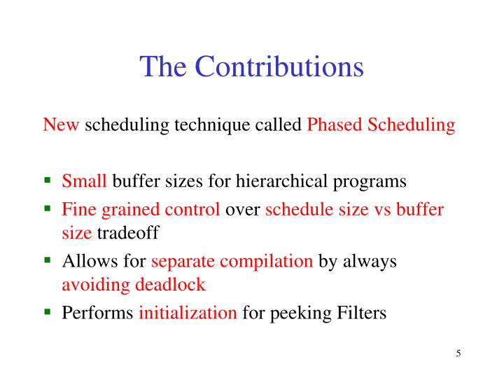 The Contributions