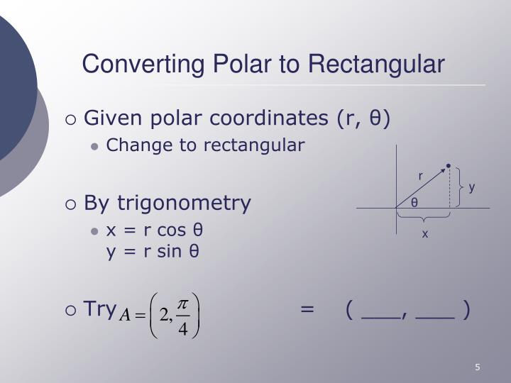 Converting Polar to Rectangular