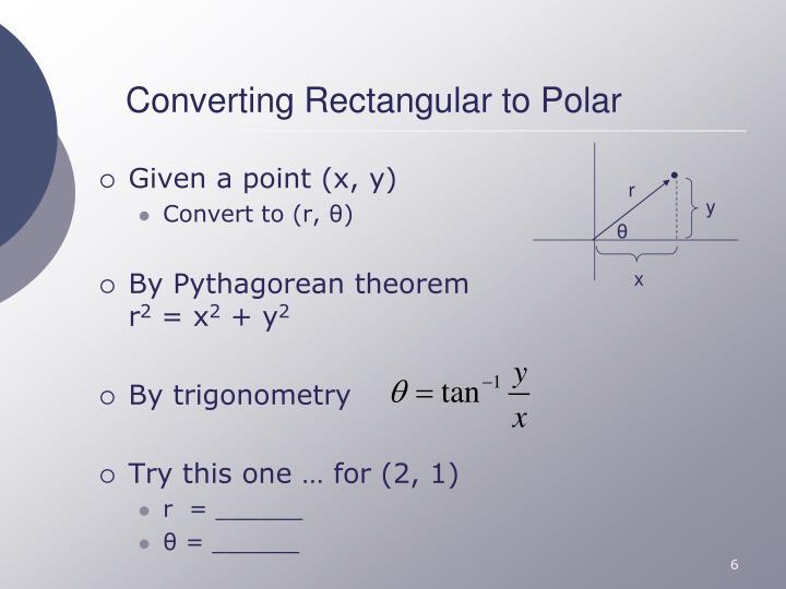 Converting Rectangular to Polar