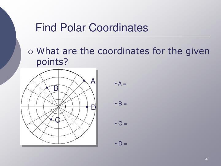 Find Polar Coordinates
