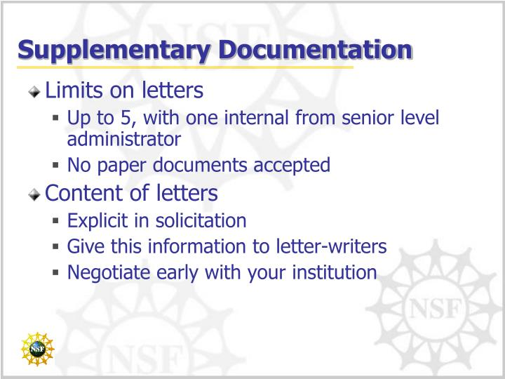 Supplementary Documentation