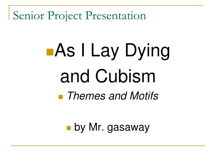 Senior project essays