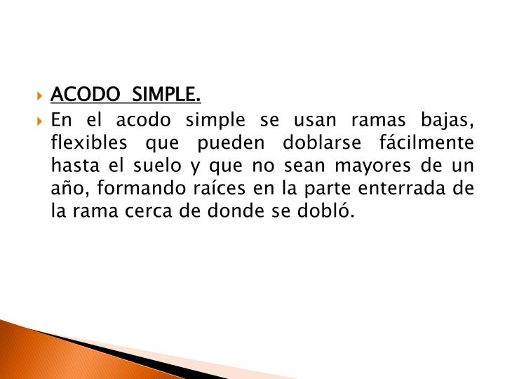 ACODO  SIMPLE.