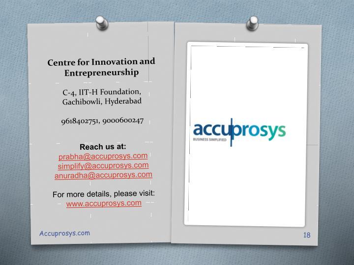 Centre for Innovation and Entrepreneurship