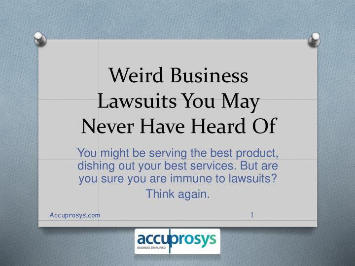 Weird business lawsuits you may never have heard of