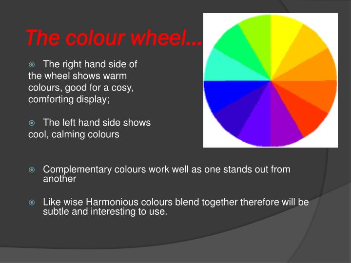 The colour wheel…
