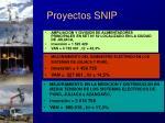 proyectos snip