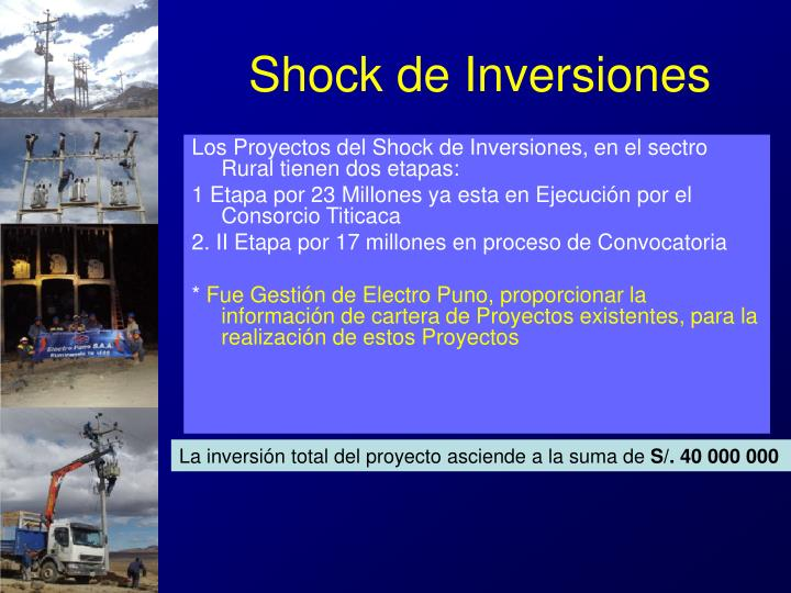 Shock de Inversiones