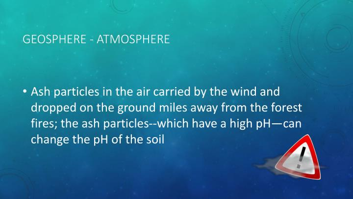 Geosphere - Atmosphere