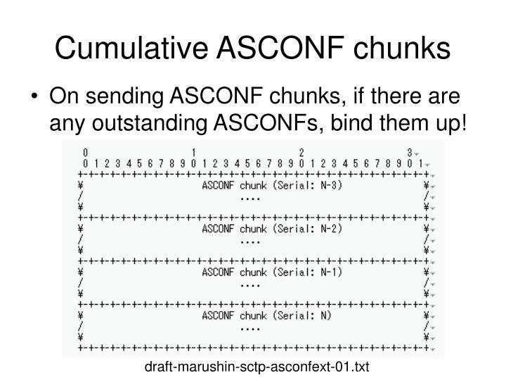 Cumulative ASCONF chunks
