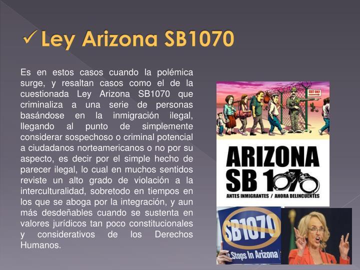 Ley Arizona SB1070