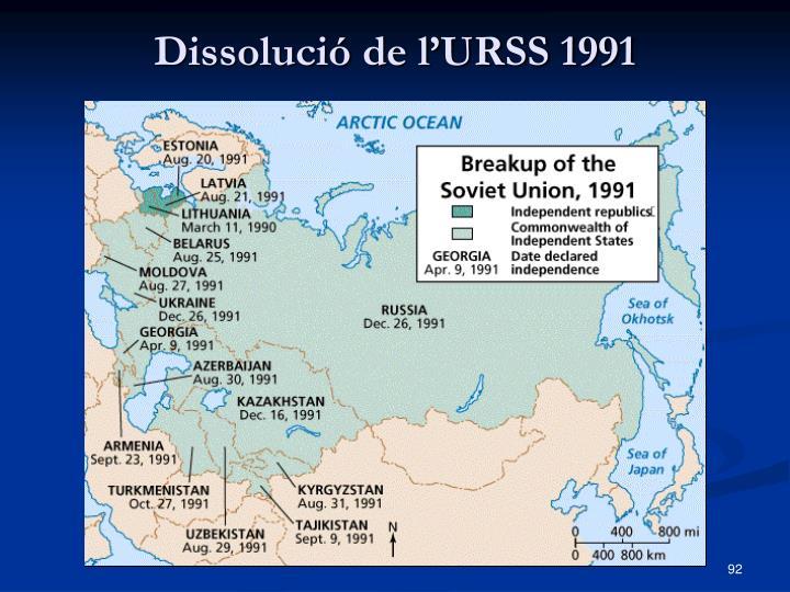 Dissolució de l'URSS 1991