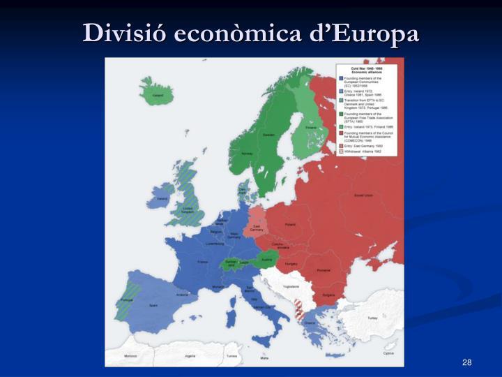 Divisió econòmica d'Europa
