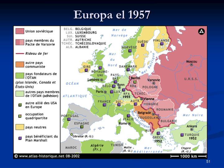 Europa el 1957
