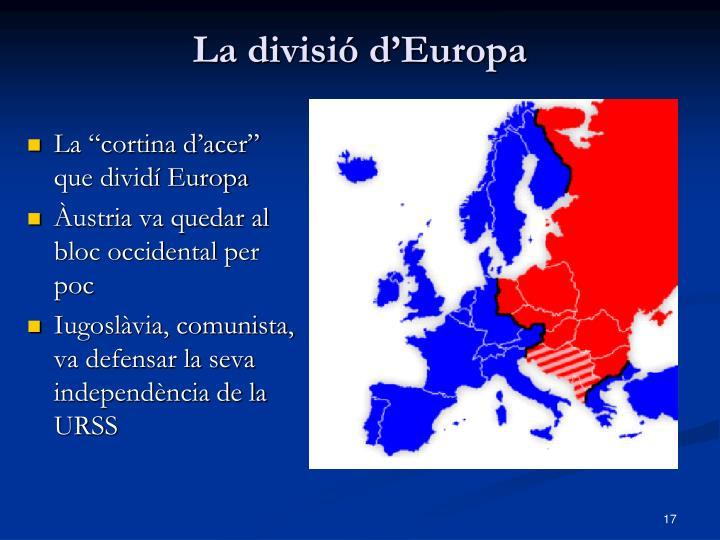 La divisió d'Europa