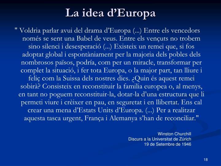 La idea d'Europa