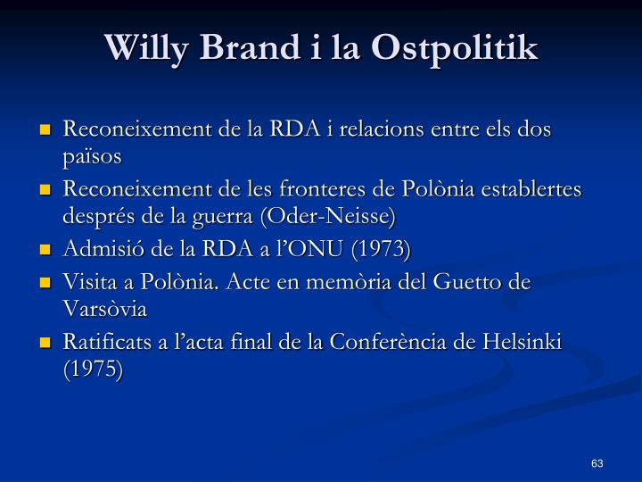 Willy Brand i la Ostpolitik