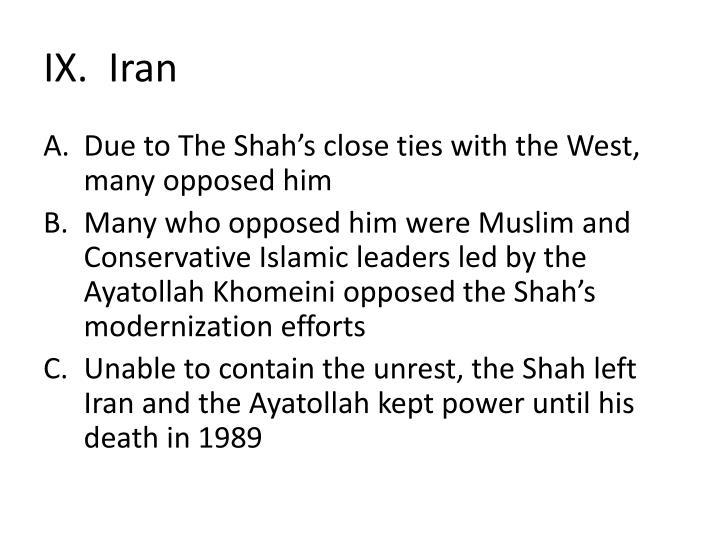 IX.  Iran