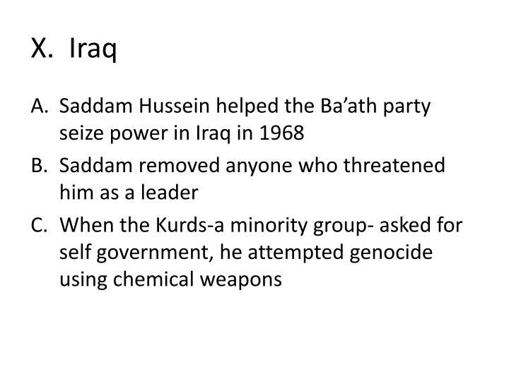 X.  Iraq