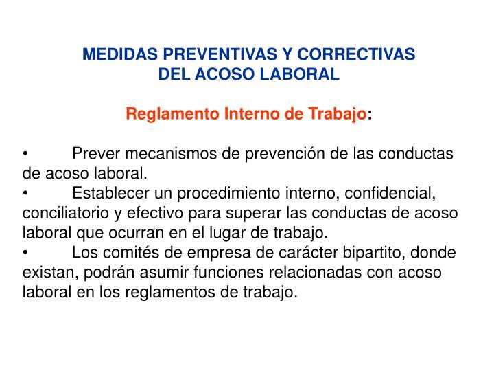 MEDIDAS PREVENTIVAS Y CORRECTIVAS